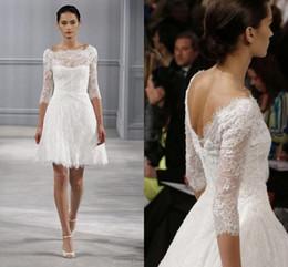 monique lhuillier spring 2016 short wedding dresses knee length beach backless wedding dress little white monique lhuillier pink wedding dress on sale