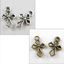 Chinese  Vintage Silvers  Bronze Tiny Cross Charms Crucifix Pendant For Bracelet Necklace Fashion Jewelry Making DIY Gifts 200PCS Z881 manufacturers