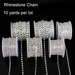 $enCountryForm.capitalKeyWord Australia - 10yard SS6-18 Rhinestone Chains Copper Claw Transparent Glass Rhinestone DIY Jewelry Craft Apparel Sew On