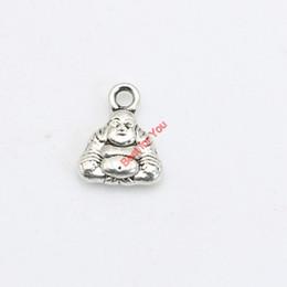 Shop antique buddha pendants uk antique buddha pendants free 40pcs antique silver plated buddha charms pendants bracelet necklace jewelry making accessories diy 12x9mm aloadofball Images