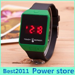 Silicone wriSt womenS watcheS online shopping - New Arrival Colorful Super Sale Men Womens Silicone LED Sport Bracelet Touch Digital Wrist Watch Freeshipping