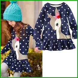 $enCountryForm.capitalKeyWord Canada - Christmas girls polka dot dress hot sales top skirt deer animal print cotton long sleeve fashioncostumes children girls clothing vestidos