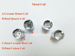 Dual coil cartomizer core online shopping - Update Dual quartz wax coils for cannon vaporizer atomizer double coil Ceramic Donut Core Glass Globe metal vase Skull Bowling cartomizer