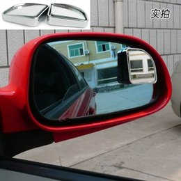 Blind View Canada - Wholesale-Car styling (1pair) silver Push Rearview View Convex Mirror Wide Angle Sector Adjustable Auto Car Blind Spot Mirror