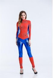 Spiderman coStume women online shopping - Sexy Spider Women Costume Halloween Costumes Women Fantasia Spiderman Costume Adult Christmas Carnival Clothes Jumpsuits