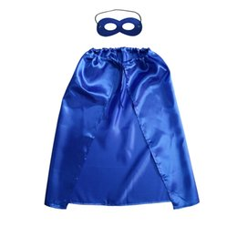 Cosplay Hero Cape Australia - Single Layer 55 70*70cm Kids Satin Capes and Felt Masks Superhero Cosplay Capes Child Holiday Party Favor Gift Kids Clothes Capes