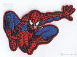 Barato Ferro Spiderman Appliques-Spiderman Patches Sew or Iron On Applique Patch Clothes Shirt Hat Jean Shoes Pet Clothing