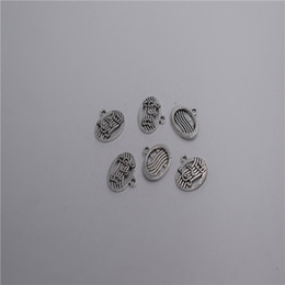 charms loops Australia - new Materials: zinc metal alloy Size(Approx):19*14mm,loop:1mm 16pcs Antique silver plated oval music sign charm pendant T0022