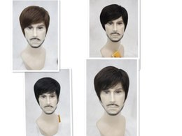 Mans Small Wig Canada - free shipping beautiful charming hot New Details about Brief paragraph stylish men straight wig 4 color select