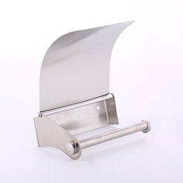 wholesale sanitary stainless steel bathroom toilet roll holder box paper towel rack bathroom accessories cheap toilet paper accessories