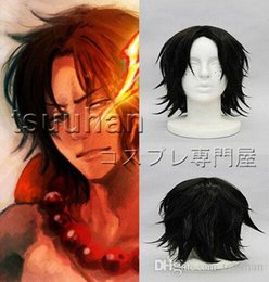 Halloween Wigs Men Canada - Free shipping One Piece Portgas D Ace Cosplay Wig Halloween