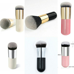 Doing hair online shopping - Super cute new mini rounds of coarse tube powder powder BB cream blush makeup brush round head do not eat powder easy to carry