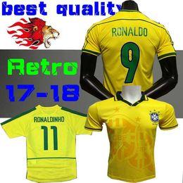 ronaldo brazil jersey 1998 2019 - TOP 1998 Brazil home soccer jerseys 2002  Brasil retro classic be331101b