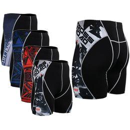 $enCountryForm.capitalKeyWord NZ - Wholesale-Original Mens Print Compression Running Shorts Yoga GYM Training Weightlifting Skin Tight Shorts New Fashion MMA Bodybuilding