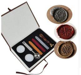 AlphAbet letter wAx stAmp online shopping - European Vintage Wax Badge Seal Stamp Set Letter Wax Seal Kit Set Alphabet Letter harry potter Wax Seal Stamp Kit KKA3046