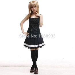 $enCountryForm.capitalKeyWord Canada - Death Note costume Women Black slip Dress Misa Amane Cosplay Costume Gothic Lolita Dress Misa Dress Costume Custom