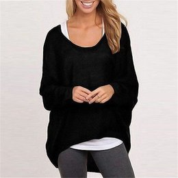 Blouses Sweaters Canada - Wholesale- Autumn Winter New Women Knitwear Fashion Jumper Hollow Out Flowers Loose Knitted Sweaters Long Sleeve Blouse Pullovers