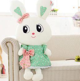 $enCountryForm.capitalKeyWord Canada - lovely size 50 cm WJJA8330 girl dress bowtie BIg Eyes rabbit baby stuffed plush pillow doll Children valentine birthday gift