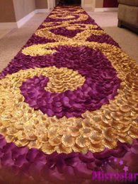Ingrosso 100pcs seta petali di rosa tavolo coriandoli matrimonio fiore artificiale artigianato eventi festa di nozze decorazione di nozze forniture decorazione del partito