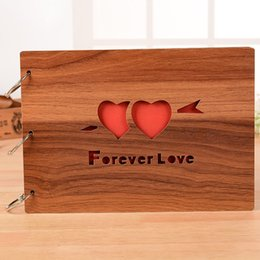 10Inch Heart LOVE Wedding Picture Frame Wooden Retro Loose Leaf Album Decor Graduation Photo Youth Large