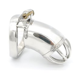 new design male chastity cage 2019 - New Design MALE Chastity Devices Stainless Steel Chastity Belt A278 cheap new design male chastity cage