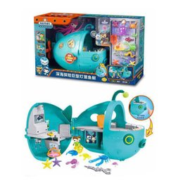 Barato Boy Set Modelos-Octonauts Super Lantern Fish Submarinos figuras de ação Boys girls cartoon Ship model toys sets C3241