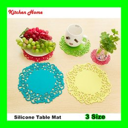 $enCountryForm.capitalKeyWord Canada - 100% Silicone Home Table Cup Mat Drink Tableware Pad Bowl Pot Coaster Kitchen Heat Insulation Pad Placemat Holder Lace Flower Design