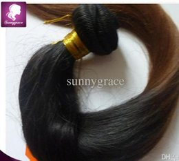 two tone 1B 33 silky straight hair weaving ombre Mongolian human hair extension for white woman