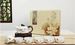$enCountryForm.capitalKeyWord Canada - Snowflake Glaze Special Tea Set 7 Snowflake Ceramic Set Of Kung Fu Tea Hand Holding Pot Gift
