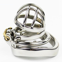Discount new design male chastity cage - NEW Stainless steel Male chastity devices Latest Design Metal chastity belt #R172