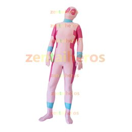 Costume Lycra Spandex Rouge Pas Cher-Rose rose et rouge Killer Queen Spandex Lycra Costume Prelude to Deadpool Corps Halloween Party Cosplay Zentai Suit