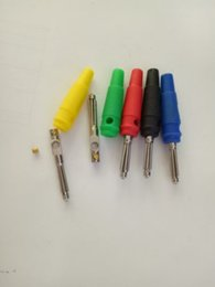 banana adapter NZ - 50pcs high quality 5 Color copper Banana Plug FOR Audio Speaker adapter
