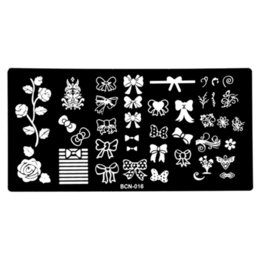 China Wholesale- 2016 Multi-style bow Flower Vines Nail Design Stamping Template Nail Art Image Plate, Polish Manicure Stencil Tool BCN-016 cheap vine designs suppliers