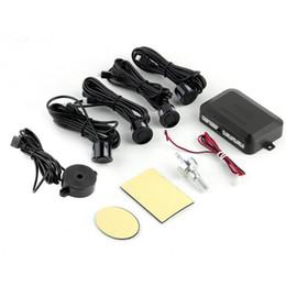 Radar Backup Car Canada - Black Waterproof 12V 4 Car Parking Sensors Auto Reverse Backup Rear Radar System Kit Sound Alert Alarm Indicator sensor