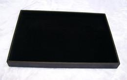 "$enCountryForm.capitalKeyWord Canada - 2pcs 14"" Large Jewelry Display Velvet Tray for Bracelet Necklace Fashion Decorations Holder Storage Casket"