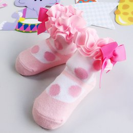 Sock flowers baby gift online sock flowers baby gift for sale ins 2017 autumn dot pattern big bow flower baby princess socks pink infant newborn baby socks cotton girls socks children kids gifts 134 negle Image collections