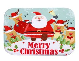 santa claus fleece fabric 2018 4060cm santa claus snowman christmas bath mats anti