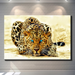 $enCountryForm.capitalKeyWord NZ - Vintage Abstract Animal Colorful LEOPARD creative posters painting pictures print on the canvas,Home Wall art decor canvas painting poster