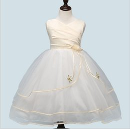 $enCountryForm.capitalKeyWord UK - High grade 2018 summer satin mesh formal evening ball gown princess white dresses flower girls wedding sleeveless cheap 3-12T