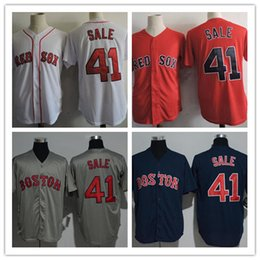 80e800cca ... MLB Jersey Men Women Youth 41 Chris Sale Boston Red Sox Jerseys Home Red  White Grey Blue Cool ...