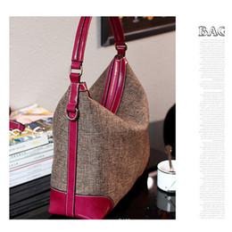 Echte Echtem Leder Frauen Handtasche Hobo Schultertasche Leinen Stoff Umhängetasche Rindsleder Hohe Qualität