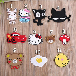 embroidered kids clothes NZ - 11PCS SET Mixed cartoon embroidered fabric Iron-on or Sew-on cartoon sticker patches badges for kids clothing