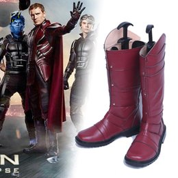 $enCountryForm.capitalKeyWord Canada - Movie Character X-Men Cosplay Magneto Erik Lehnsherr Cosplay Costume Accessor Shoes Costume BOOTS Custom Made Any Size For Unisex