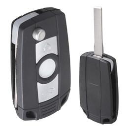 $enCountryForm.capitalKeyWord UK - Black 3 Buttons Refit Key Remote Fob Shell Case No Chip with Uncut Car Flip Key for BMW CIA_40F