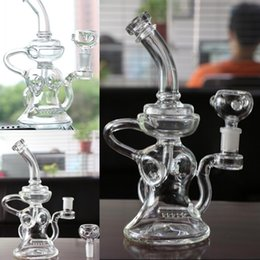 Circulation Oil Canada - Real Images 10 inches Glass BONGS Circulation Hookahs Oil Rigs Glass Bongs Water Pipes With Bowl Joint 14.4mm