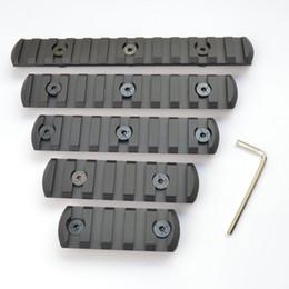 Handguard rail mount online shopping - 5 slot CNC Aluminum Picatiny Weaver Rail Section For Key mod Handguard Rail Mount