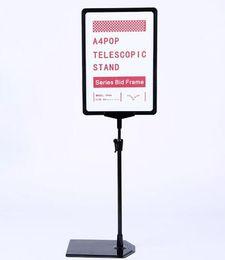A4 posters online shopping - A4 frame Supermarket label holder sign banner frame desktop POP indoor poster stand
