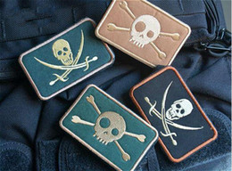 VP-33 3.15*2 inch size number of eye skulls 3D embroidered patch morale  badge armband with stickersTactical Morale patches