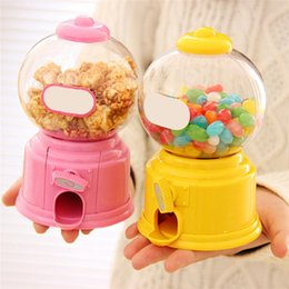 Wholesale LS4G Cute Sweets Mini Candy Machine Creative Bubble Gumball Machine Dispenser Coin Bank Kids Toy Children Gift
