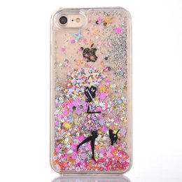 4s cases girl online shopping - For Iphone G Iphone7 I7 S Plus S S Quicksand Liquid Hard PC Case D Cartoon Star Run Flow Clear Glitter Girl Umbrella Skin Cover